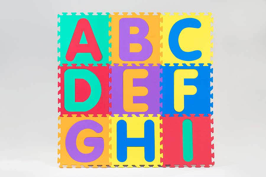 کفپوش مهد کودک حروف لاتین